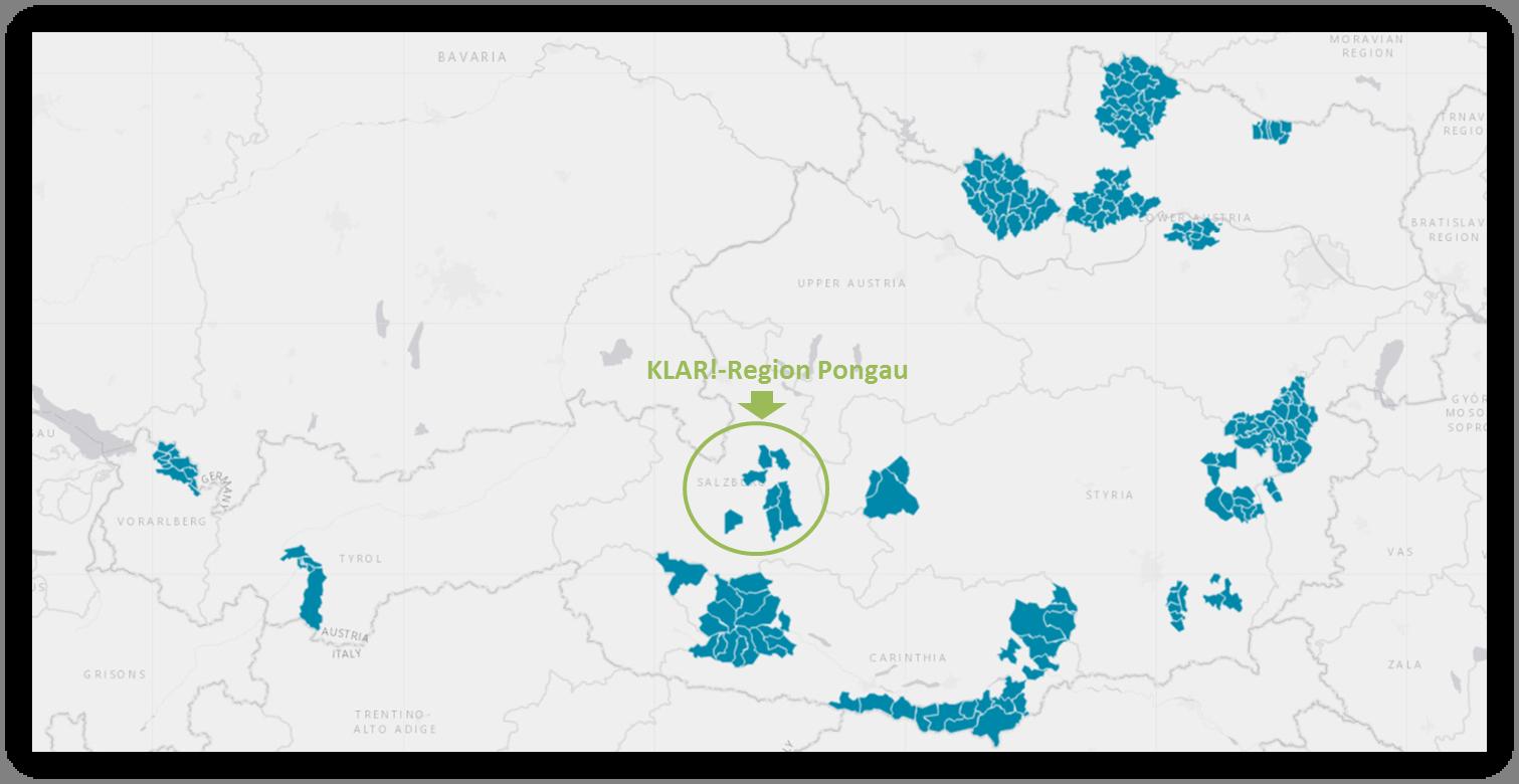 KLAR! Region Pongau - Karte